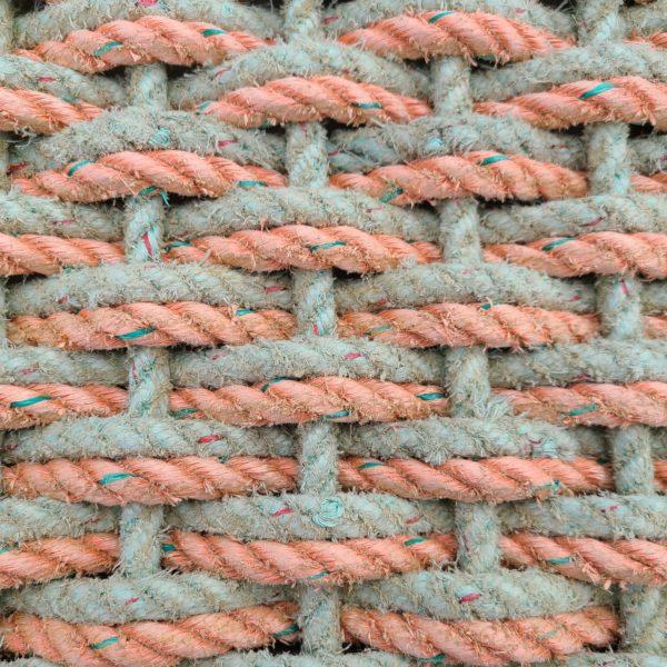 Coral & Aqua Double Weave Reclaimed Doormat - 30 Fathom.com