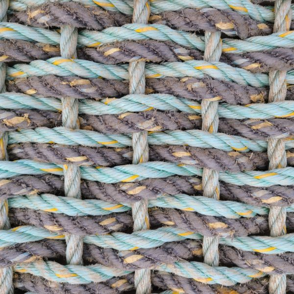 Gray & Aqua Double Weave Reclaimed Doormat - 30 Fathom.com