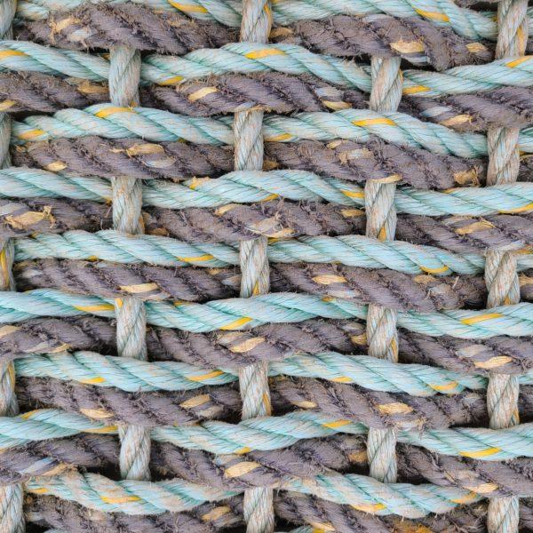 Gray & Aqua Double Weave Reclaimed Doormat - 30 Fathom.com