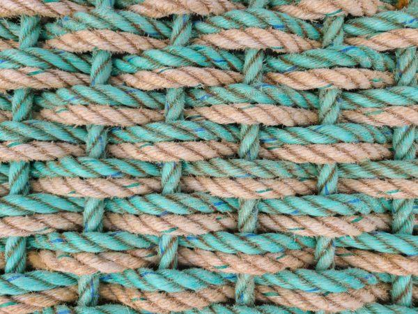 SeaFoam & SeaSmoke Double Weave Reclaimed Doormat