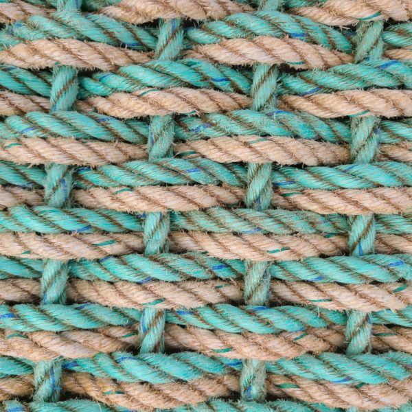 SeaFoam & SeaSmoke Double Weave Reclaimed Doormat