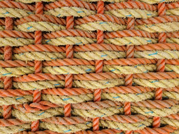 Orange & Yellow Reclaimed Double Weave