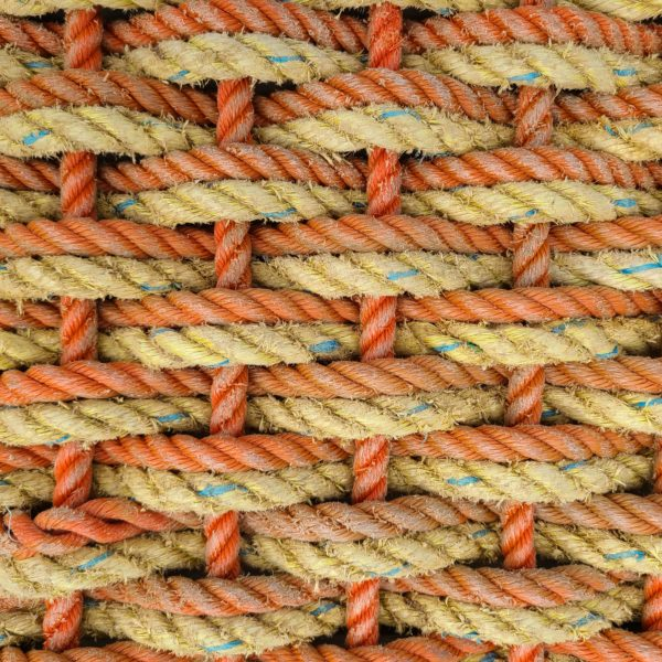 Orange & Yellow Reclaimed Double Weave